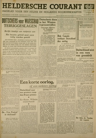 Heldersche Courant 1939-09-11