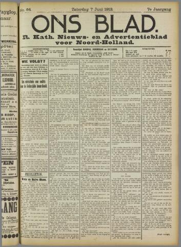 Ons Blad : katholiek nieuwsblad voor N-H 1913-06-07