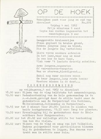 Op De Hoek, weekblad voor Akersloot 1962-05-04