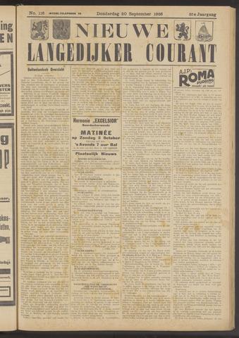 Nieuwe Langedijker Courant 1926-09-30