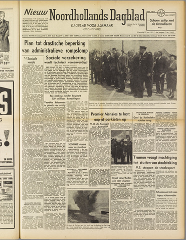 Nieuw Noordhollandsch Dagblad : voor Alkmaar en omgeving 1952-06-11