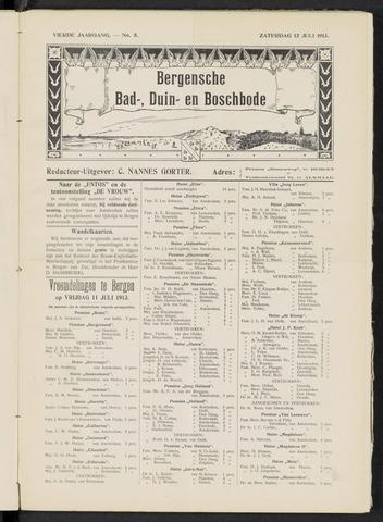 Bergensche bad-, duin- en boschbode 1913-07-12