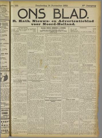 Ons Blad : katholiek nieuwsblad voor N-H 1912-11-14