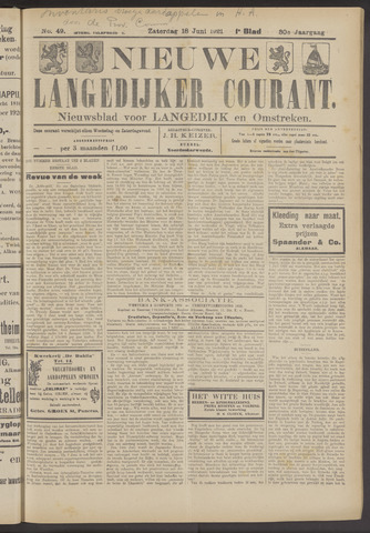 Nieuwe Langedijker Courant 1921-06-18