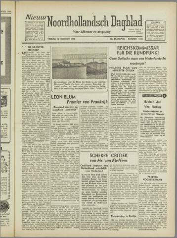 Nieuw Noordhollandsch Dagblad : voor Alkmaar en omgeving 1946-12-13