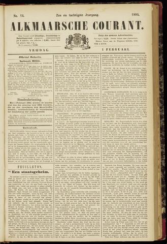 Alkmaarsche Courant 1884-02-01