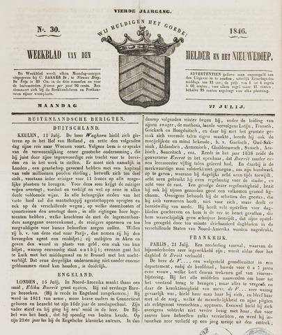 Weekblad van Den Helder en het Nieuwediep 1846-07-27