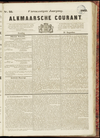 Alkmaarsche Courant 1862-08-31