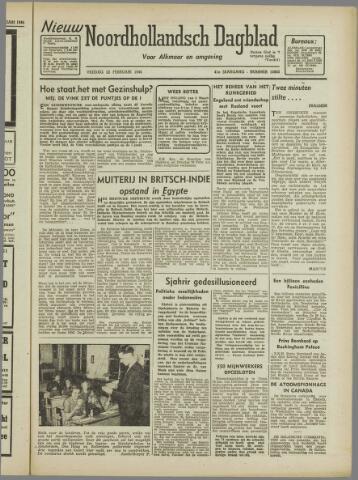 Nieuw Noordhollandsch Dagblad : voor Alkmaar en omgeving 1946-02-22