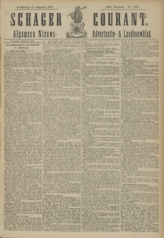 Schager Courant 1911-08-10
