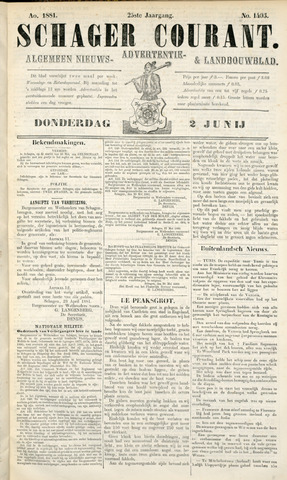 Schager Courant 1881-06-02