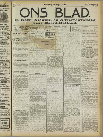 Ons Blad : katholiek nieuwsblad voor N-H 1913-09-09
