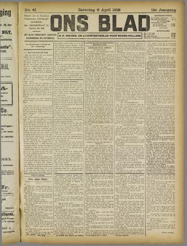 Ons Blad : katholiek nieuwsblad voor N-H 1918-04-06