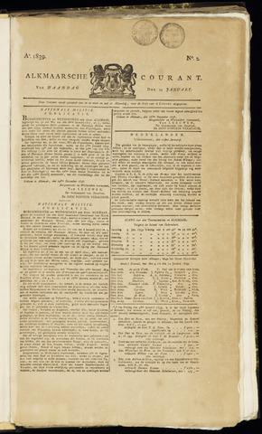 Alkmaarsche Courant 1839-01-14