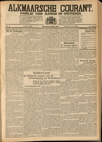 Alkmaarsche Courant 1934-03-07