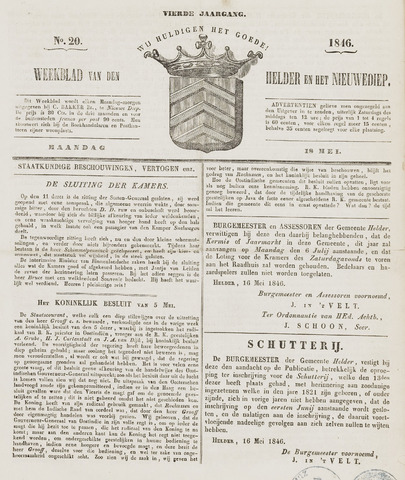 Weekblad van Den Helder en het Nieuwediep 1846-05-18