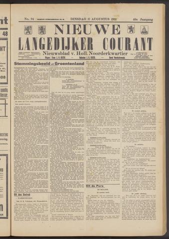 Nieuwe Langedijker Courant 1931-08-11