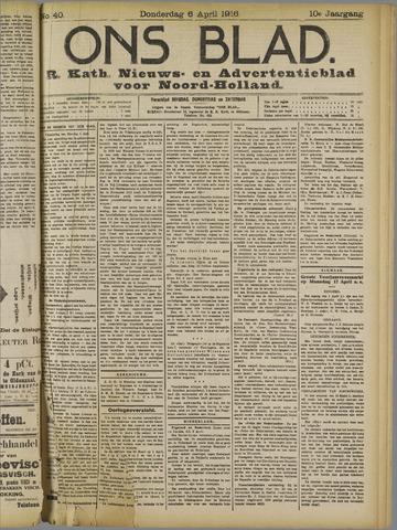 Ons Blad : katholiek nieuwsblad voor N-H 1916-04-06