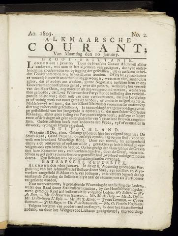 Alkmaarsche Courant 1803-01-10