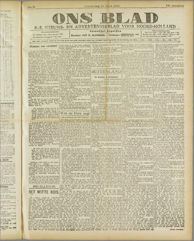 Ons Blad : katholiek nieuwsblad voor N-H 1920-04-15