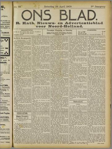 Ons Blad : katholiek nieuwsblad voor N-H 1909-04-24