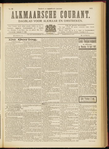Alkmaarsche Courant 1917-04-10