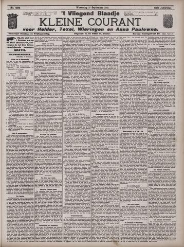 Vliegend blaadje : nieuws- en advertentiebode voor Den Helder 1913-09-17