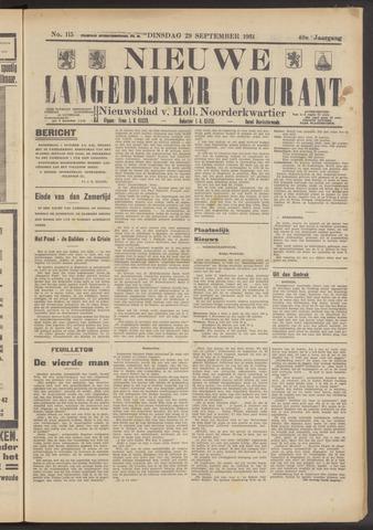 Nieuwe Langedijker Courant 1931-09-29