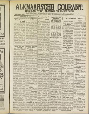 Alkmaarsche Courant 1941-09-19