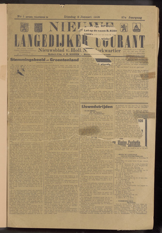 Nieuwe Langedijker Courant 1928-01-03