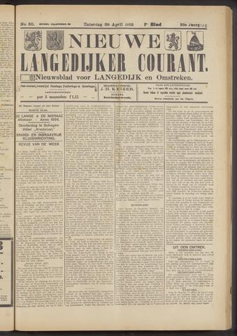 Nieuwe Langedijker Courant 1923-04-28