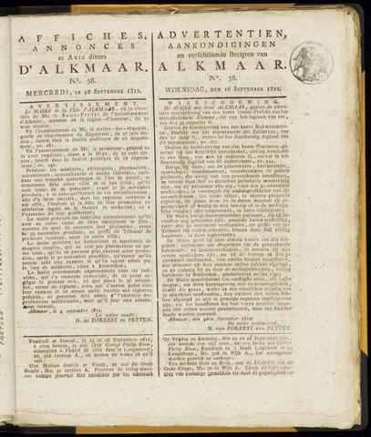 Alkmaarsche Courant 1812-09-16