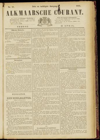 Alkmaarsche Courant 1881-04-22