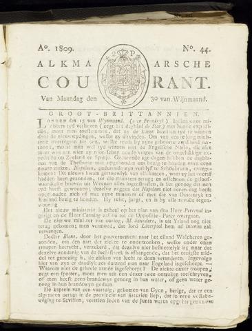 Alkmaarsche Courant 1809-10-30