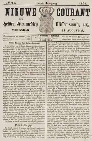 Nieuwe Courant van Den Helder 1861-08-21