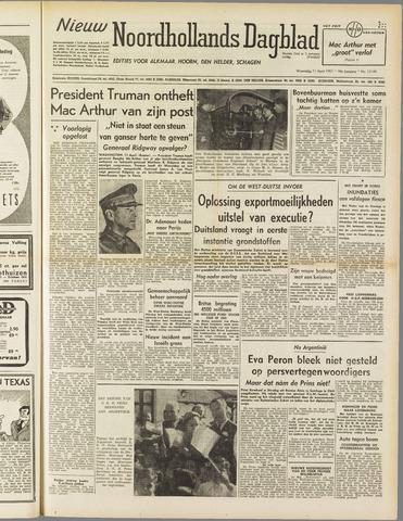 Nieuw Noordhollandsch Dagblad : voor Alkmaar en omgeving 1951-04-11