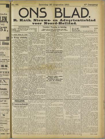 Ons Blad : katholiek nieuwsblad voor N-H 1910-08-20
