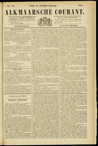 Alkmaarsche Courant 1887-11-16