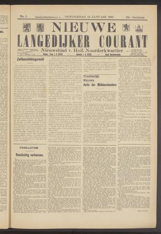 Nieuwe Langedijker Courant 1933-01-12