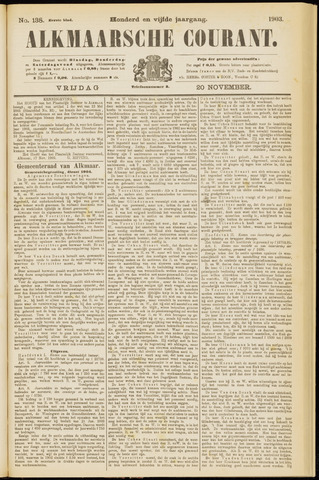 Alkmaarsche Courant 1903-11-20