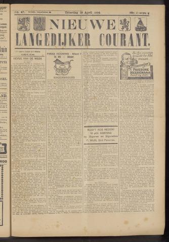 Nieuwe Langedijker Courant 1924-04-19