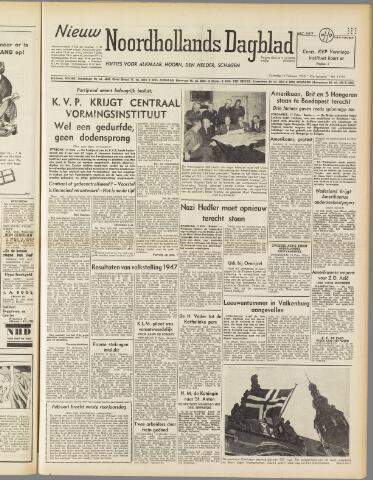 Nieuw Noordhollandsch Dagblad : voor Alkmaar en omgeving 1950-02-18