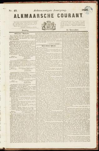 Alkmaarsche Courant 1866-11-25