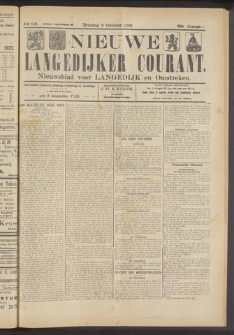 Nieuwe Langedijker Courant 1923-10-09