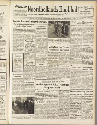 Nieuw Noordhollandsch Dagblad : voor Alkmaar en omgeving 1949-09-24