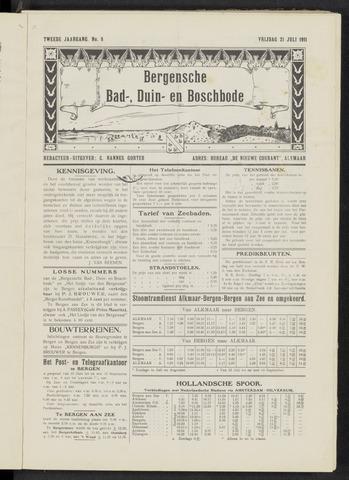 Bergensche bad-, duin- en boschbode 1911-07-21