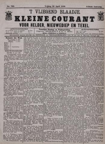 Vliegend blaadje : nieuws- en advertentiebode voor Den Helder 1880-04-30