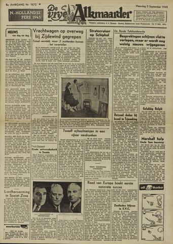 De Vrije Alkmaarder 1949-09-05