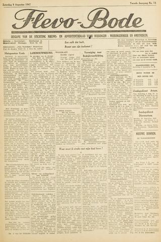 Flevo-bode: nieuwsblad voor Wieringen-Wieringermeer 1947-08-09