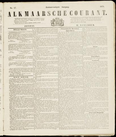 Alkmaarsche Courant 1874-11-22
